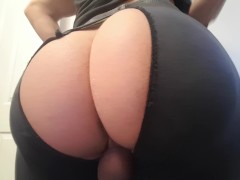 Big ass femboy booty pounding