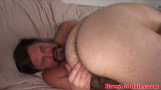 Ginger bear wank cum for mature silver daddy