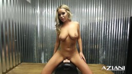 Sexy Blonde rides the Sybian