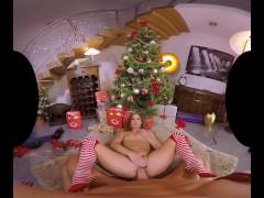 Xmas porn Amirah Adara in a cozy sexy vid