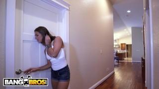 BANGBROS - Step Sister Evelin Stone Catches Juan El Caballo Loco Jerking Of Home perky