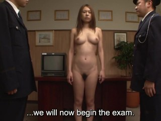 Uncensored JAV CMNF prisoner anal inspection Subtitled