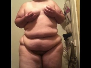 BBW Fetish Bouncing and Jiggling Belly and Tits