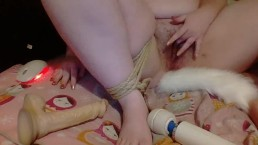Tied Up Chubby Teen Masturbates, Edges, And Orgasms