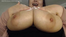 Destiny Diaz - Big Natural Oiled Titties