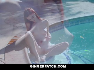 Preview 1 of GingerPatch - Hot redhead Fucked By The Pool