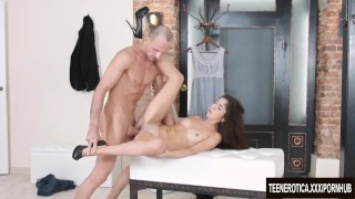 Young Katty West hardcore and anal