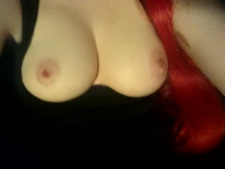 Messing around in Red wig!