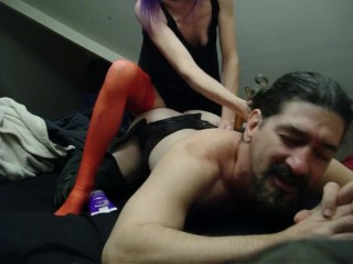 Gorgeous Goddess Pounds Hubby's Ass- Pegging Strapon