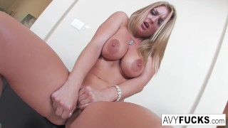 Avy Scott strips off a sexy dress in this erotic solo for you to enjoy