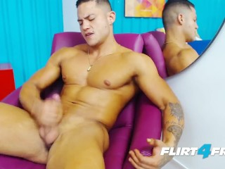 Brandon Sullivan on Flirt4Free Guys - Latino Hunk Has Perfect Muscular Body