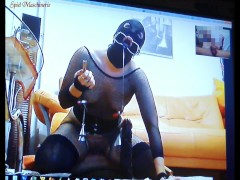 HARDER Torture of a slut slave - Spiel maschinerie's Skype session no.2