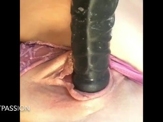Huge Toy Smashing My Pussy Until I Cream