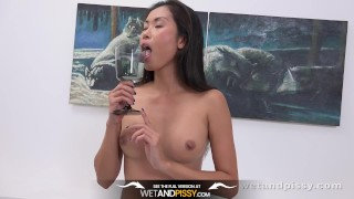 Preview 6 of Wetandpissy - Devon Lee toys her wet pussy in hd pissing scene
