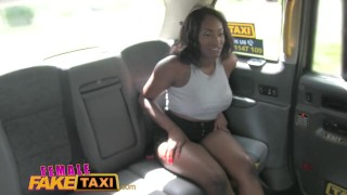Female Fake Taxi Busty ebony stripper wants her tight pussy licked Kitchen girlsway