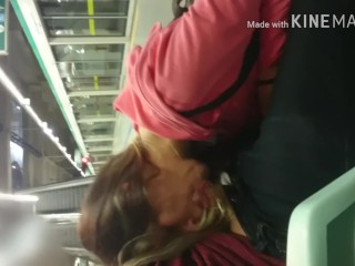 Blowjob in Subway