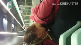 Blowjob in Subway