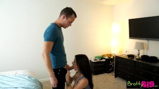 Bratty Sis - Brother Fucks Step Sister Better Than Her Boyfriend S3:E4  family sex step siblings point of view lacey channing big cock squirt blowjob small tits skinny young hardcore brattysis step brother cum shot natural tits step sister