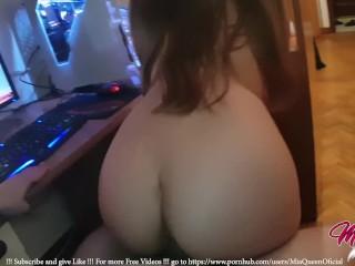 Little Teen Fucked Watching Hentai Lesbian Porn before Bed!!! – MiaQueen