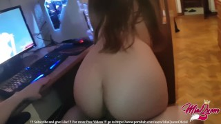 Little Teen Fucked Watching Hentai Lesbian Porn before Bed!!! - MiaQueen