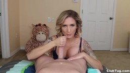 Super hot chick POV handjob