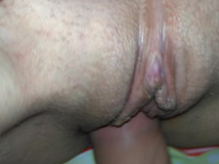POV | Amateur creampie very close up