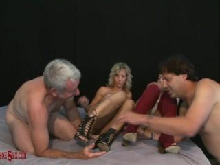 ERIC JOHN & JAY CREW worship & fuck ALIX LOVELL & SKY HAVEN boots & heels