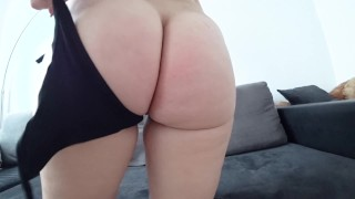 Preview 4 of A young girl with a big ass fucks after a shower