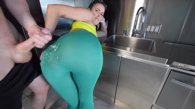 Hot Yoga Pants Tease And Cumshot  Modelhubcom-8427