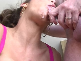 Young woman spank