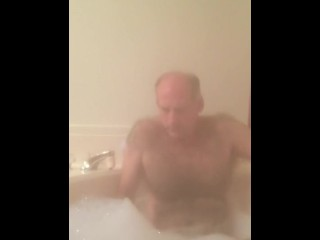 Stroking myself in bath
