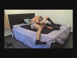 Her husband is away so she fuck with her lover - part 4