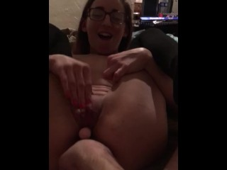 Ms Nypmh pushing toy out w/ her pussy muscles