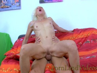 Horny French Granny Going Crazy For Big Young Cocks