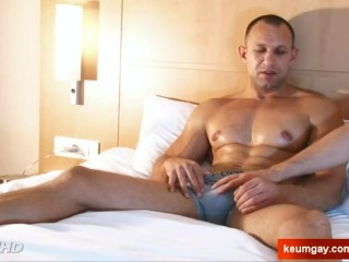 Igor, Handsome big balls's hetero male to massage in spite of him.