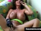 Smoking Hot Cougar Deauxma Bangs Her Cunt & Ass With A Cigar
