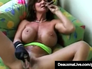 Girl takes huge cucumber in pussy