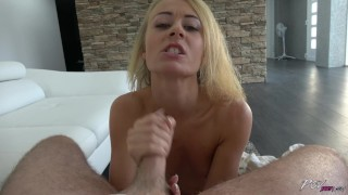 Blonde dull queen open legs for another cock in row to play hornyness