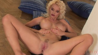 Anal Masturbation of A Busty Blonde