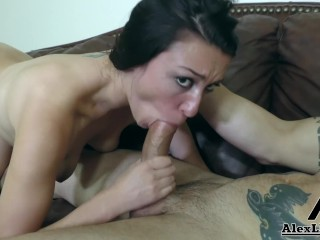 Alexa Raye Sucks A Huge Cock & Gets Her face Covered In Cum!!