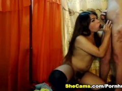 Two Hot Shemale Koppel Enjoys Cock Sucking