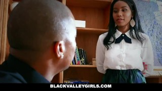 Sex for hot schoolgirl blackvalleygirls sneaks ebony around bigcock jenna