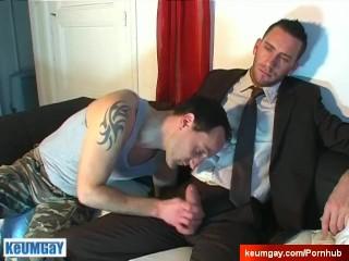 Don't wank my cock, i'm hetero guy. Jerem gets sucked !