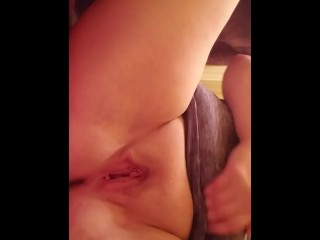 Sucking on dildo before its inserted in me (pt.3)