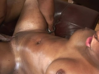 Big Ole Booty Ebony Milf Fucked Hard by BBC and Creampied