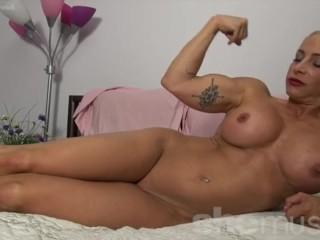 Sophia lares naked naked female bodybuilder with big tits and tattoos femalemusclenetwork