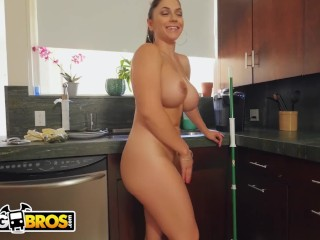 Preview 4 of BANGBROS - Hot Latina MILF Maid Marta La Croft Gargles On Big Cock