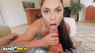 BANGBROS - Hot Latina MILF Maid Marta La Croft Gargles On Big Cock Close amateur