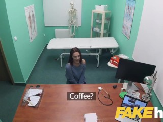 Fake Hospital Swallowing doctors hot cum helps soothe babes throat