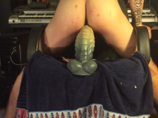 My Giant Bad Dragon gives me BIg Creampie in my Straight Sexy Hole